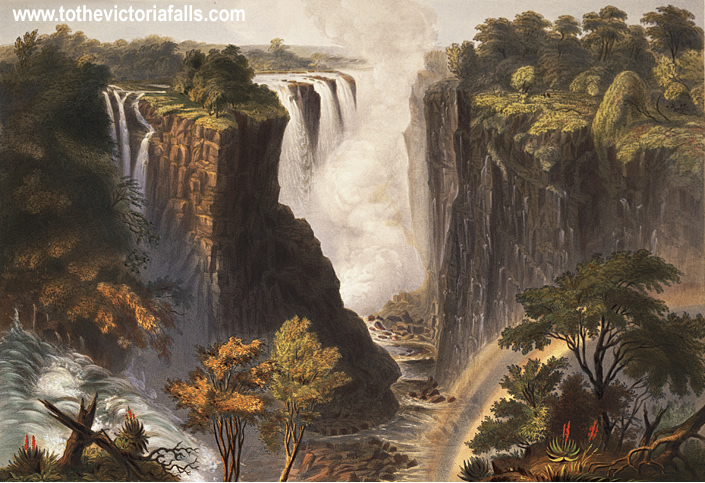 Western view of the Falls, by Thomas Baines