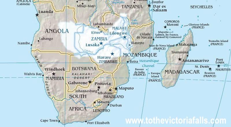 To The Victoria Falls : The Zambezi River